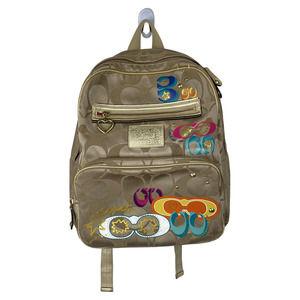 Coach Poppy limited Graffiti Gold Tan Backpack